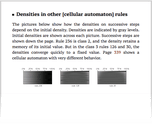 Densities in other [cellular automaton] rules
