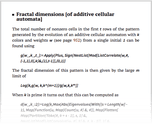 Fractal dimensions [of additive cellular automata]