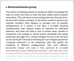 Renormalization group