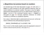 [Repetition in] systems based on numbers