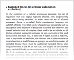 Excluded blocks [in cellular automaton evolution]