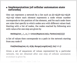 Implementation [of cellular automaton state networks]