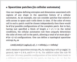 Spacetime patches [in cellular automata]