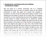 Surjectivity and injectivity [of cellular automaton maps]
