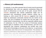 History [of randomness]