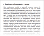 Randomness in computer systems