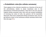 Probabilistic rules [for cellular automata]
