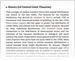 History [of Central Limit Theorem]