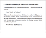 Gradient descent [in constraint satisfaction]