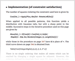 Implementation [of constraint satisfaction]