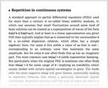 Repetition in continuous systems