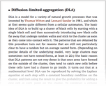 Diffusion-limited aggregation (DLA)