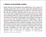 History of snowflake studies