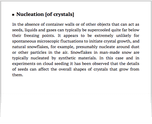 Nucleation [of crystals]