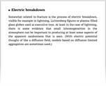 Electric breakdown