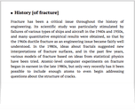 History [of fracture]