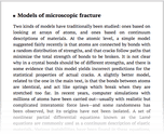 Models of microscopic fracture