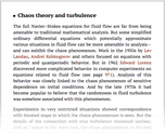 Chaos theory and turbulence