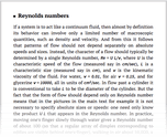 Reynolds numbers