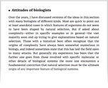 Attitudes of biologists