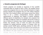 Genetic programs [in biology]