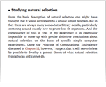 Studying natural selection