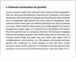 General constraints on growth