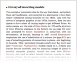 History of branching models