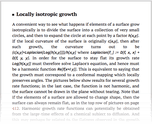 Locally isotropic growth