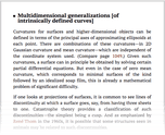 Multidimensional generalizations [of intrinsically defined curves]