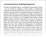 Parametrizations of [biological] growth