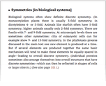 Symmetries [in biological systems]