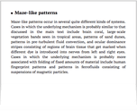 Maze-like patterns