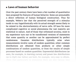 Laws of human behavior