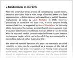 Randomness in markets