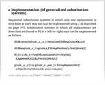Implementation [of generalized substitution systems]
