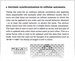 Intrinsic synchronization in cellular automata