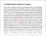 Completion [in multiway systems]