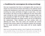 Conditions for convergence [in string rewriting]