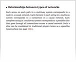 Relationships between types of networks