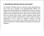 Identifying subnetworks [in networks]