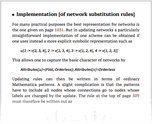 Implementation [of network substitution rules]