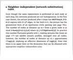 Neighbor-independent [network substitution] rules