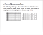 [Network] cluster numbers