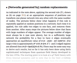 [Networks generated by] random replacements