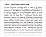 History [of elementary particles]