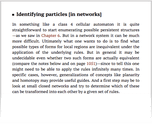 Identifying particles [in networks]