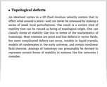 Topological defects