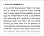 History [of gravity theory]