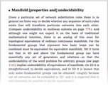 Manifold [properties and] undecidability